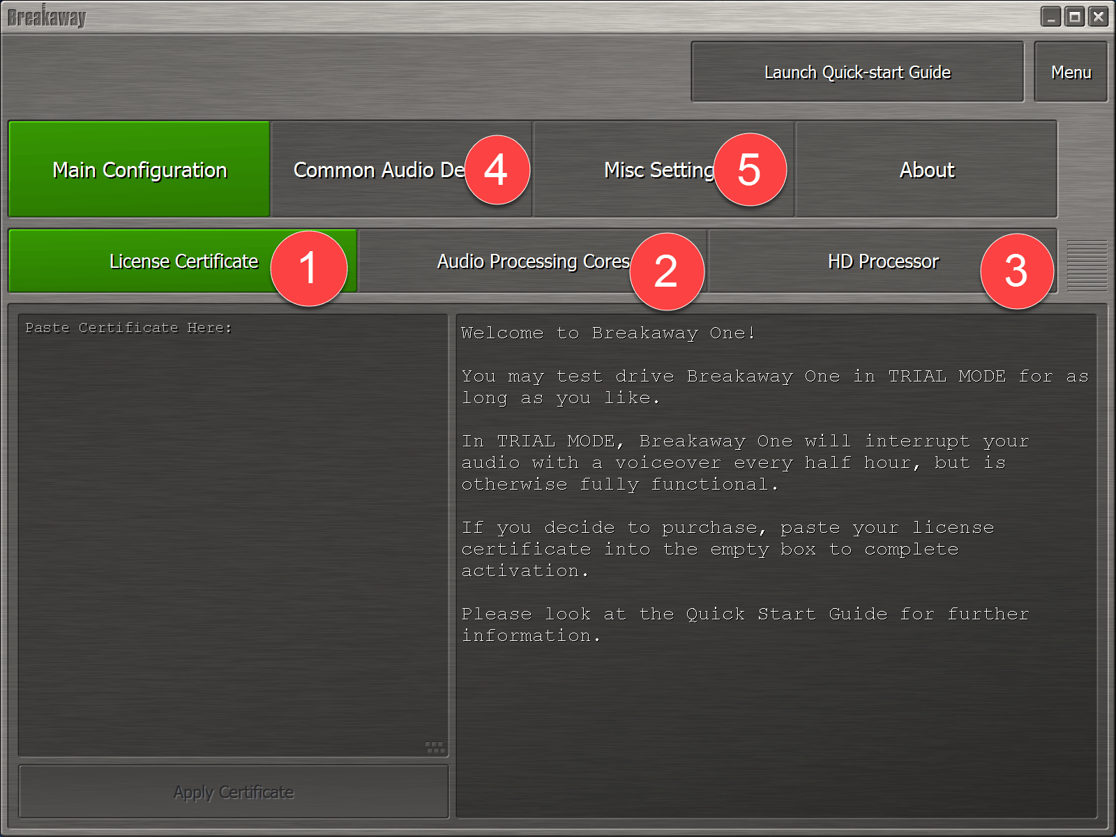 Quick-start Guide – Breakaway One